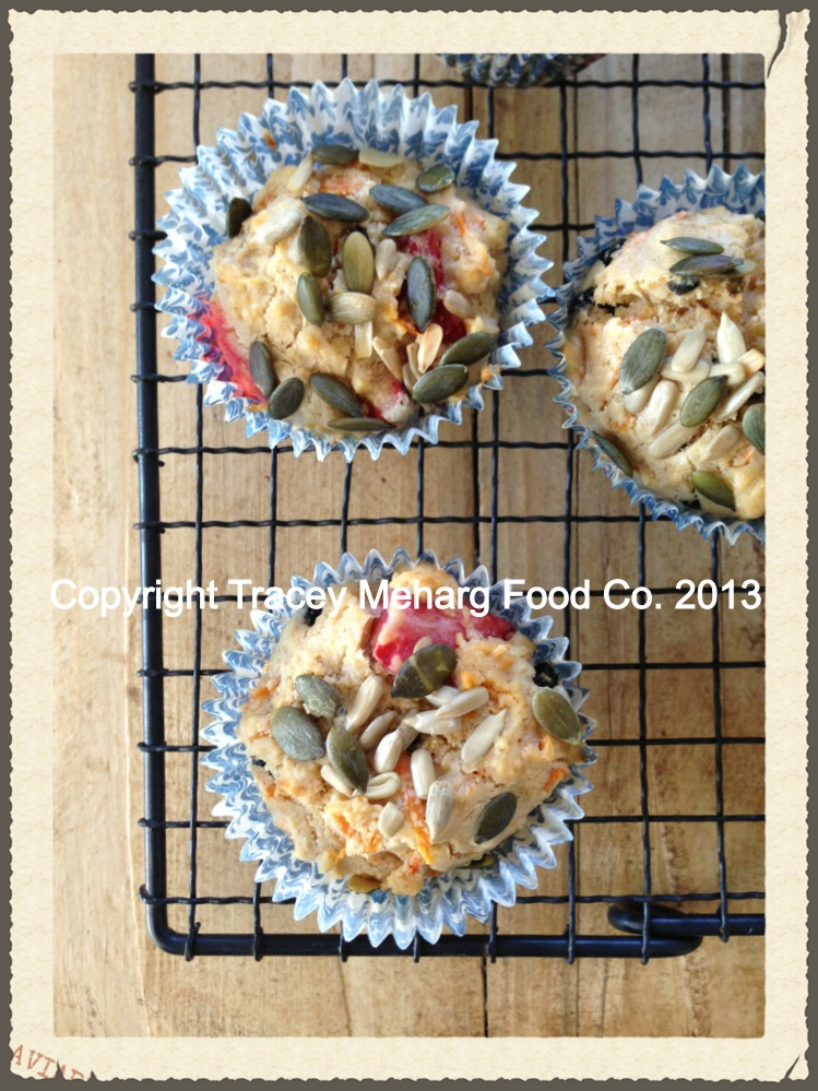 Free & Easy Banana Strawberry Muffins
